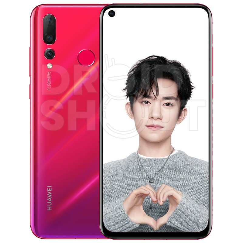 Huawei Nova 4 Press Render Gradient red