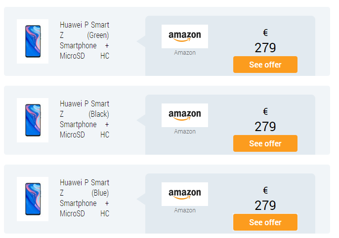 Huawei P Smart Z Amazon Price